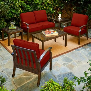 Darby Home Co Yandel Bridgeport 6 Piece Conversation Set with Cushions