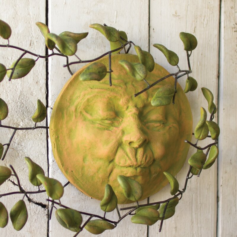 Bungalow Rose Clay Wind Blown Sun Face Wall Décor & Reviews | Wayfair