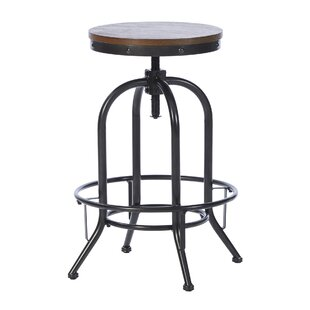 Calabro Height Adjustable Swivel Bar Stool By Borough Wharf