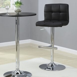 Adjustable Height Swivel Bar Stool (Set of 2) Latitude Run