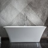 55 x 28 Freestanding Soaking Acrylic Bathtub by WAREHOUSE UNION