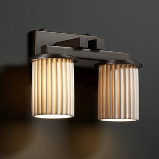 Darby Home Co Devaughn Straight 2-Light Vanity Light