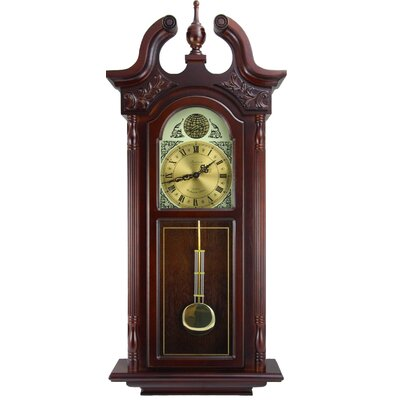Grand Colonial Chiming Wall Clock Bedford Clock
