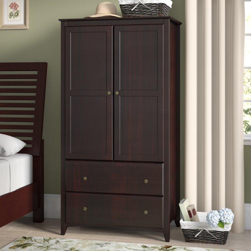 Avila 2 Door and 2 Drawer Armoire & Red Barrel Studio Avila 2 Door and 2 Drawer Armoire u0026 Reviews | Wayfair