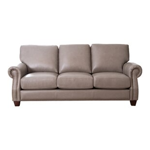Dufault Leather Sofa by Da..