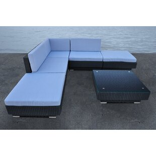 Cavalli 5 Piece Rattan Sectional Set with Cushions by Solis Patio