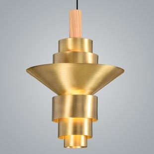 Reflections 2-Light Geometric Chandelier by ZANEEN design