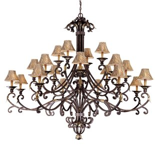 Metropolitan by Minka Zaragoza 20-Light Shaded Chandelier
