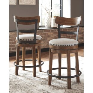 Amador Upholstered Swivel Barstool
