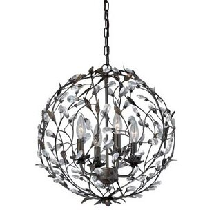 Vaxcel Trellis 4-Light Globe Chandelier