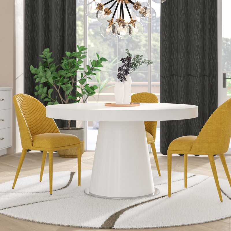 Orren Ellis Boa Pedestal Dining Table Reviews Wayfair