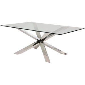 Rebecka Glass Dining Table by Everly Quinn