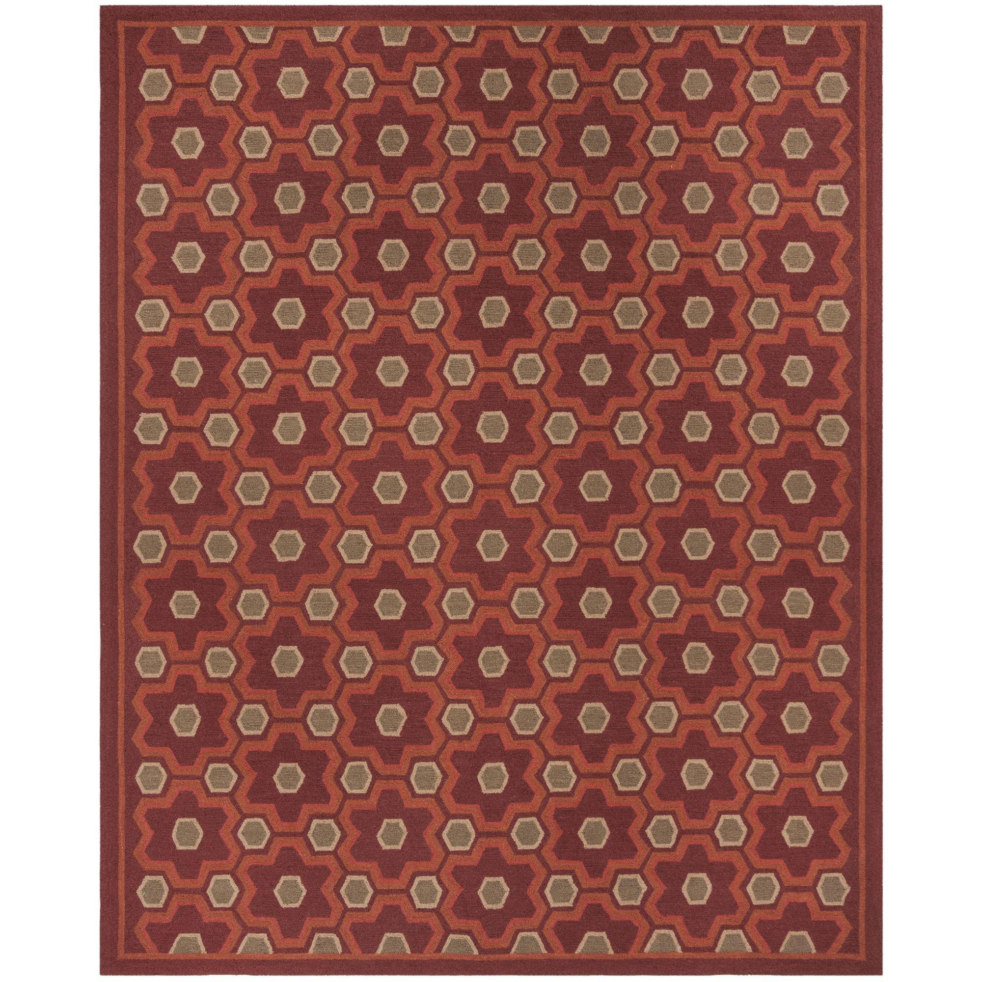 Martha Rugs Puzzle Wool Choc