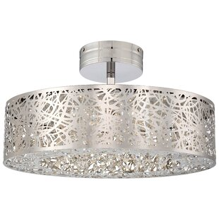 Willa Arlo Interiors Brooklington 1-Light Semi Flush Mount