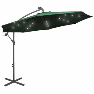 3m Parasol With Lights By Freeport Park