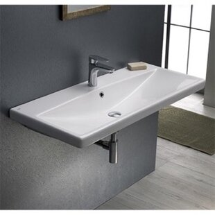Best Choices Elite Ceramic Rectangular Drop-In Bathroom Sink with Overflow By CeraStyle by Nameeks
