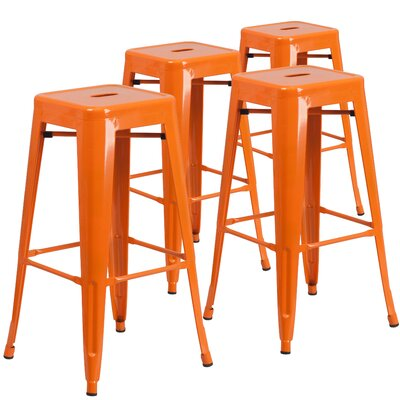 Awesome Flash Furniture 30 Bar Stool Color Orange Machost Co Dining Chair Design Ideas Machostcouk