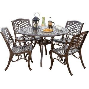 5piece formica patio dining set