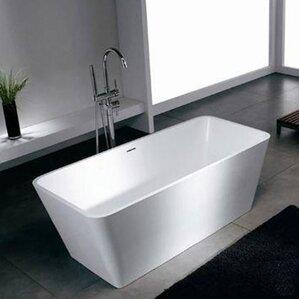 56 inch freestanding tub. Blanc 58 25  x 26 38 Artificial Stone Freestanding Bathtub Bathtubs You ll Love Wayfair