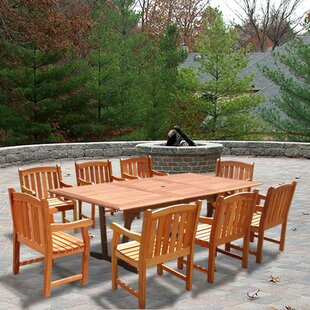 Darby Home Co Barbro 9 Piece Dining Set