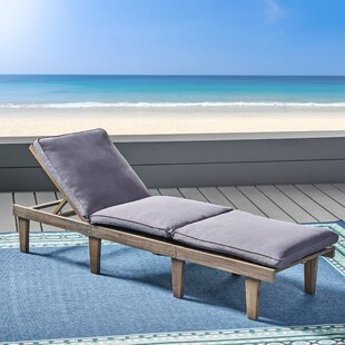 Gracie Oaks Poindexter Outdoor Chaise Lounge with Cushion