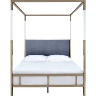 Canopy Velvet Beds You Ll Love In 2021 Wayfair