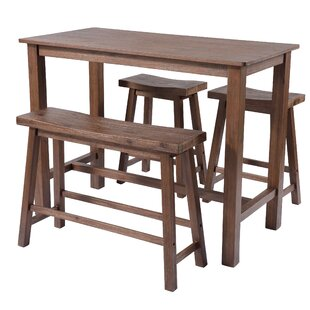 Raymundo 4 Piece Pub Table Set Mistana