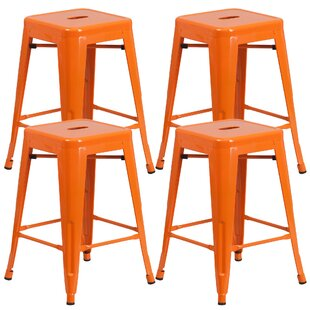 Farwell Backless 24 Bar Stool (Set of 4) by Latitude Run