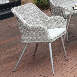 Julius Patio Dining Chair with Cushion (Set of 2)