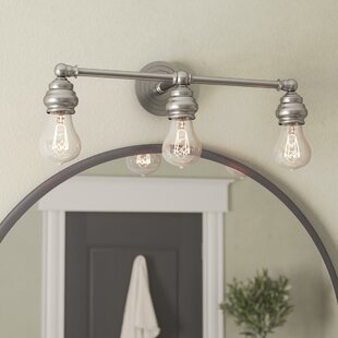Best Reviews Ivie Traditional 3-Light Vanity Light By Laurel Foundry Modern Farmhouse