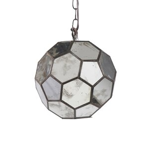 Faceted 1-Light Pendant by Worlds Away
