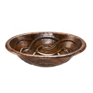 Premier Copper Products Braid Metal Oval Drop-In Bathroom Sink