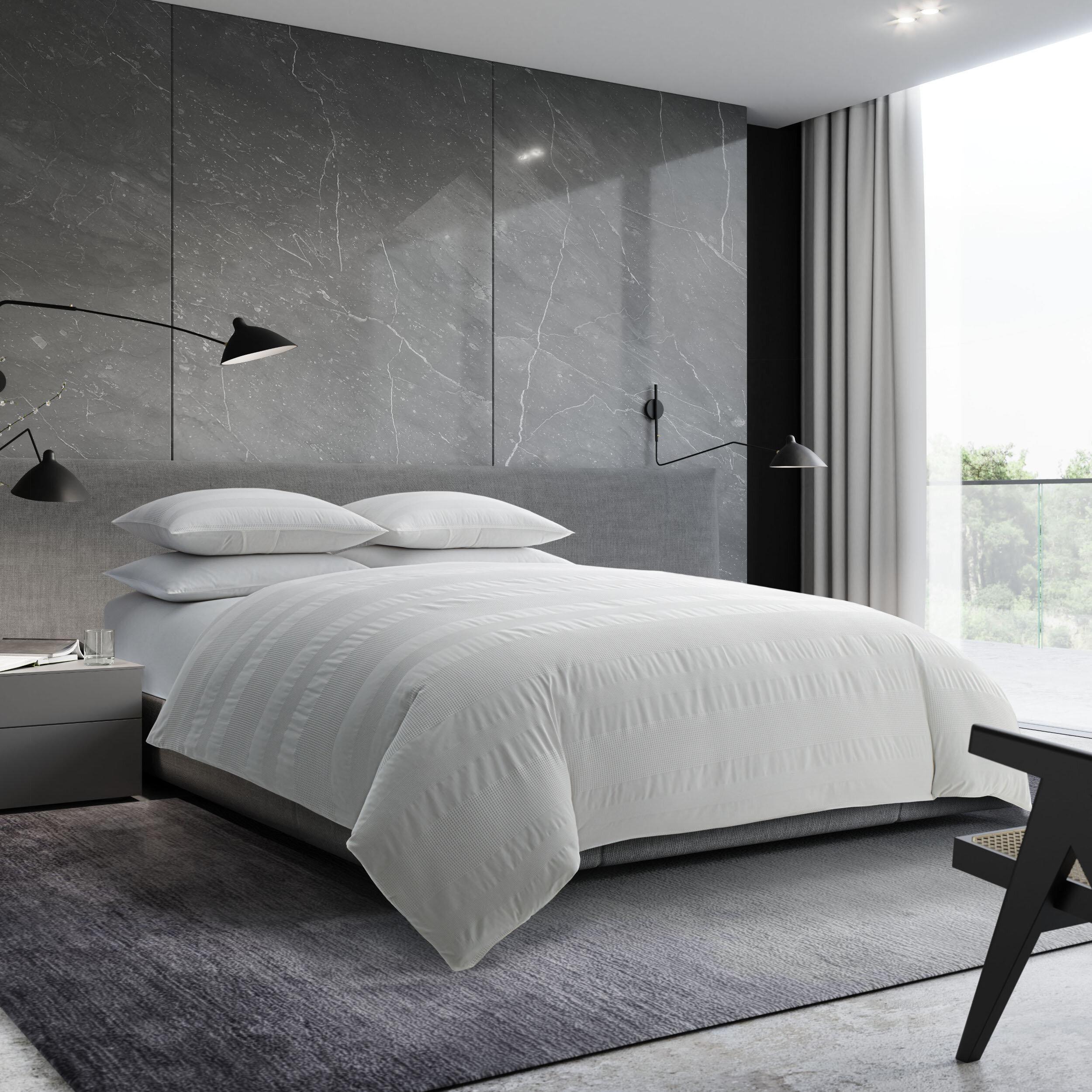 Vera Wang Waffle Stripe Reversible Comforter Set Reviews Wayfair