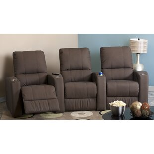 Sloane Manual Reclining Curved Home Theater Sofa (Row of 3) by Palliser Furniture
