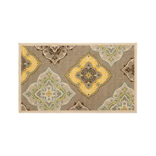 Jaya Allie Taupe/Yellow Indoor/Outdoor Area Rug