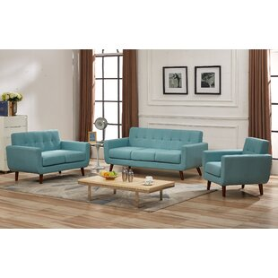 Luciano 3 Piece Living Room Set (Set of 3)