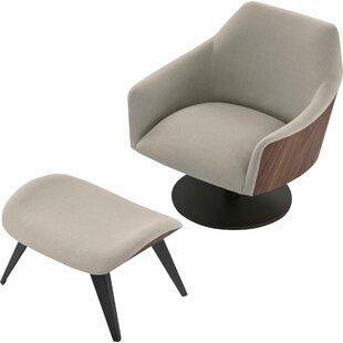 Modloft Henry Swivel Lounge Chair and Ottoman