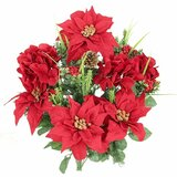 Mixed Flower Arrangement with Poinsettias and Hydrangea. by The Holiday Aisle®