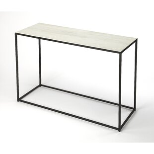 Gettys Marble/Metal Console Table By Ivy Bronx