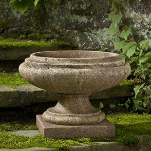 Nick Round Cast Stone Urn Planter