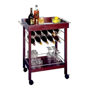 Red Barrel Studio Scenic 10 Bottle Wine Bar Cart