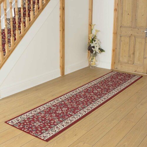 Ballyclarc Tufted Red Hallway Runner Rug ClassicLiving Rug S