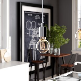 Carlee 1-Light Bulb Pendant by Williston Forge
