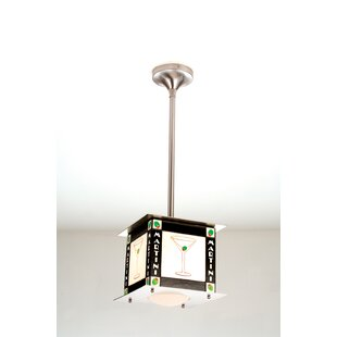Recreation Martini 1-Light Square/Rectangle Pendant by Meyda Tiffany