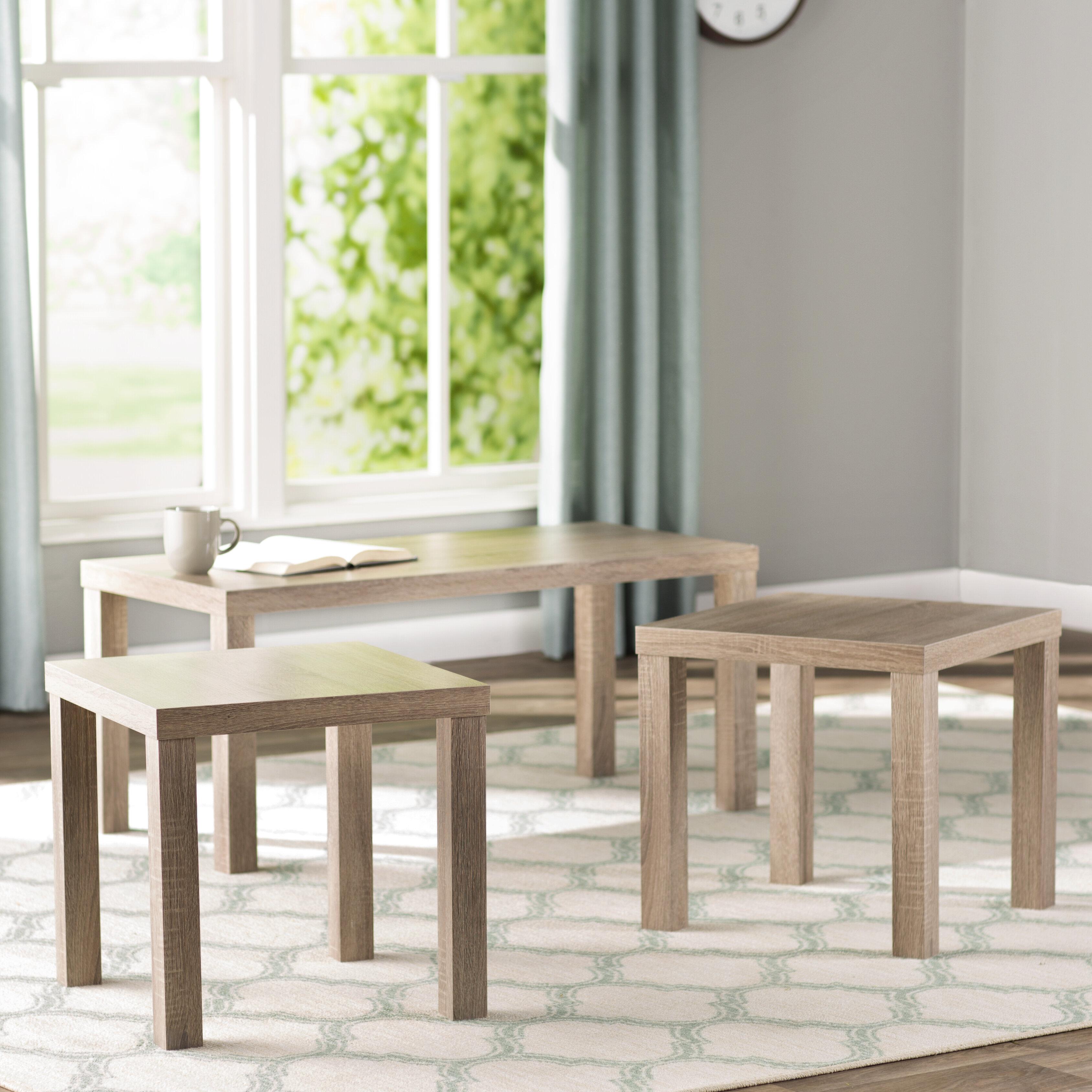 Beachcrest Home Sunbury 3 Piece Coffee Table Set & Reviews