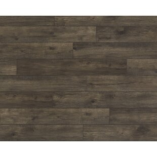 Restoration Wide Plank 8'' x 51'' x 12mm Hickory Laminate Flooring in Coal
