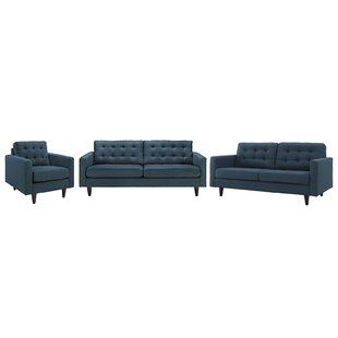 Great Price Warren 3 Piece Living Room Set by Langley Street Reviews (2019) & Buyer's Guide