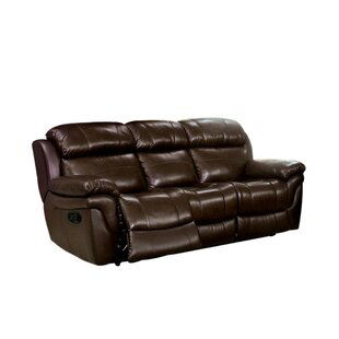 Serigne Leather Reclining Sofa by Red Barrel Studio