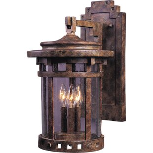 Affordable Price Carcassonne 3 Light Outdoor Wall Lantern By Loon Peak