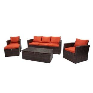 Quebec 5 Piece Sofa Set with Cushions